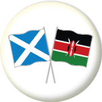 Scotland St Andrew and Kenya Friendship Flag 25mm Pin Button Badge